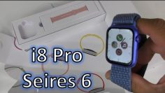 smartwatch review SUPER CLONE Series 6 Smartwatch With IDENTICAL Box: i8 Pro Series 6 Smartwatch Unboxing & Review